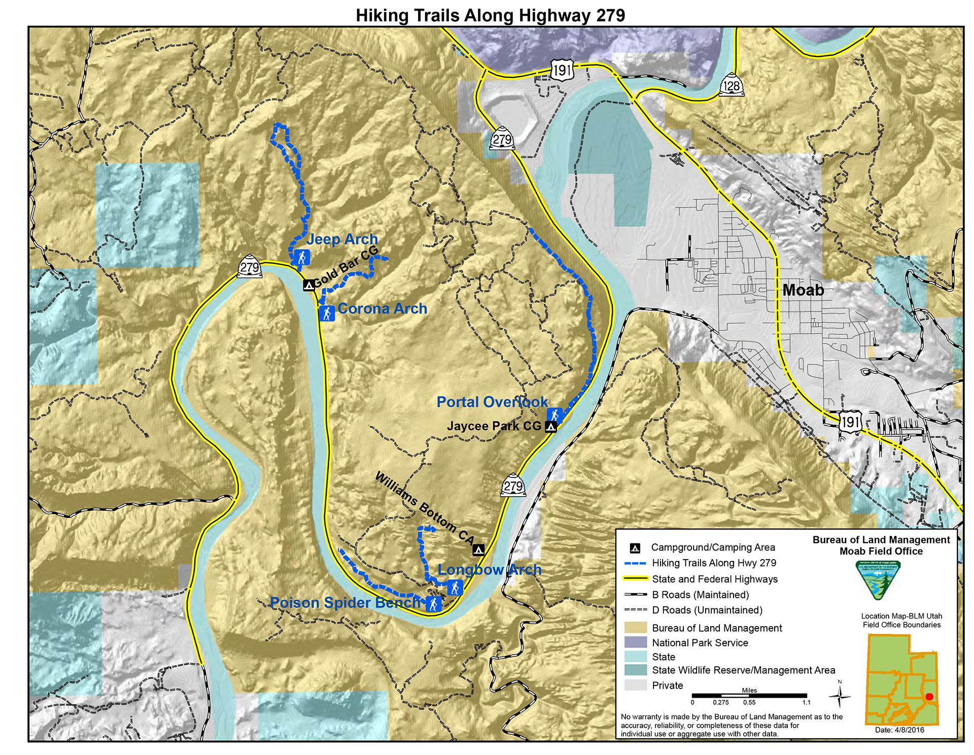 Hiking - Discover Moab, Utah on canyons park city ski map, park city lift map, sedona arizona hiking trails map, canyons resort village map, canyons ski trail map, the canyons ski resort, the canyons park city, grand canyon hiking map, into the wild trail map, utah canyons map,