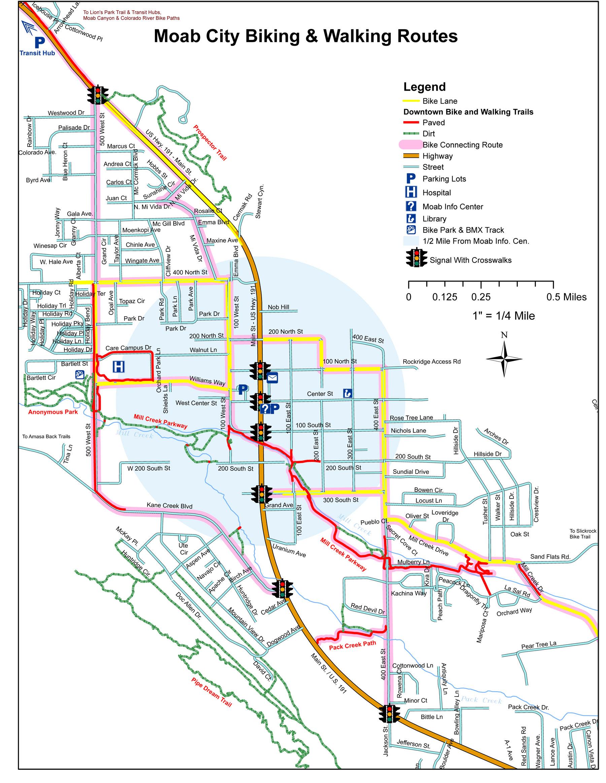 Map Of Moab Utah Moab Mountain Biking Trail Guide — Discover Moab, Utah Map Of Moab Utah