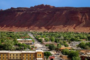 The town of Moab.