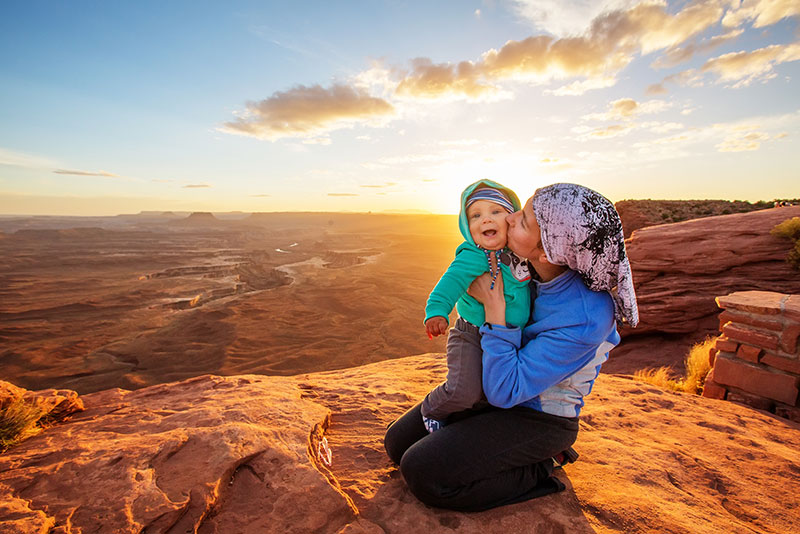 Woman and child in Canyonlands National Park