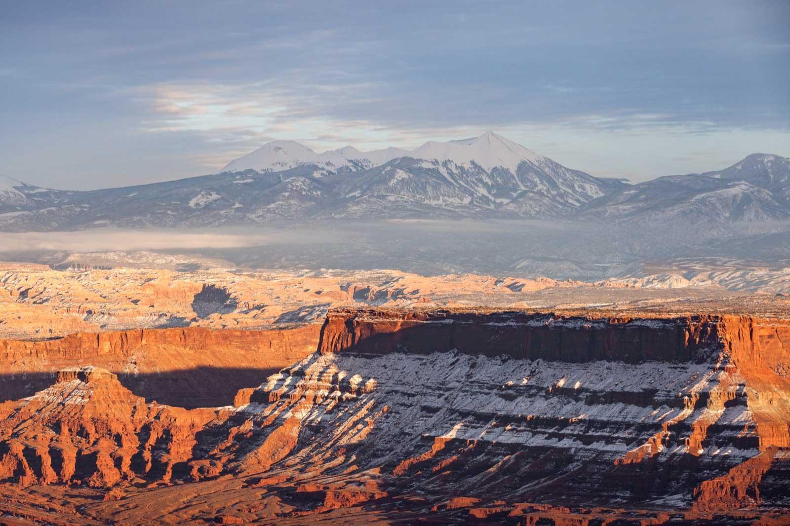 La Sal Mountains in Winter