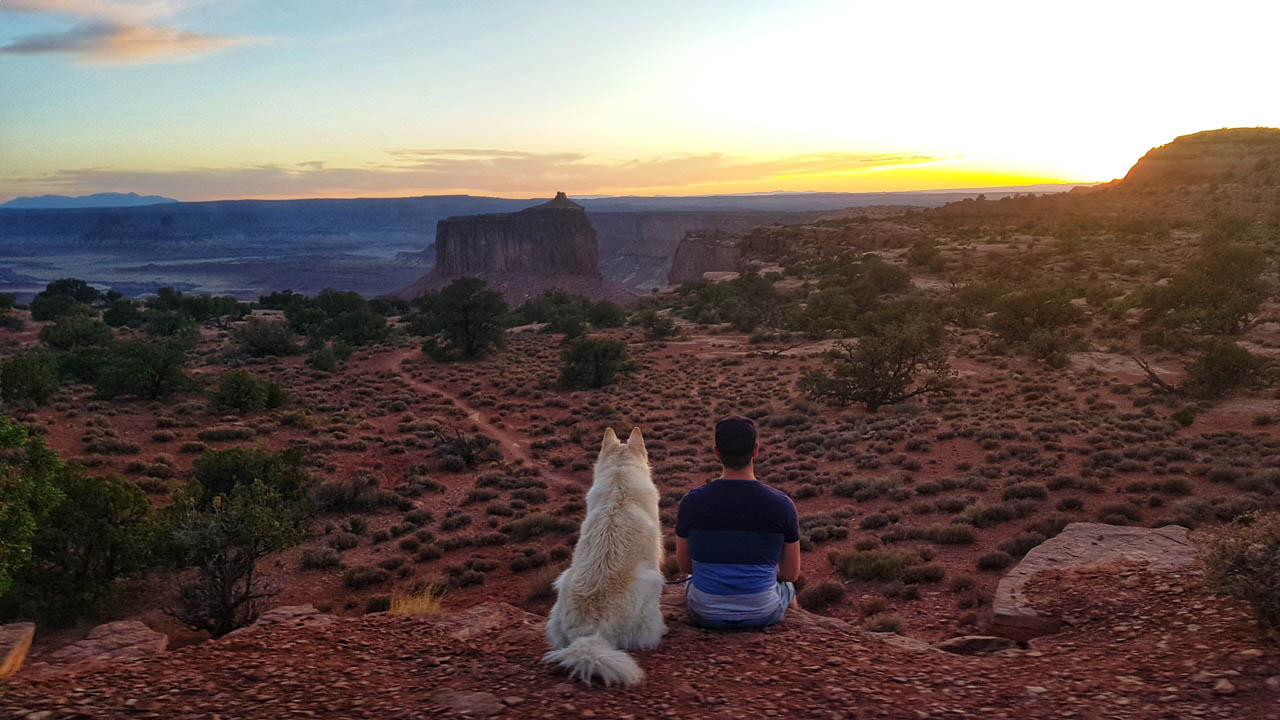 Mark & Mya in Canyonlands National Park