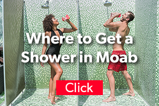Where to get a shower in Moab.